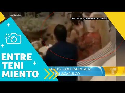 Captan a Enrique Peña Nieto con Tania Ruiz en Acapulco | Un Nuevo Día | Telemundo