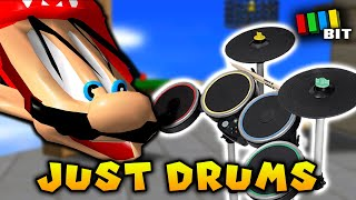 Is it Possible to Beat Super Mario 64 Using ONLY Rock Band Drums? [TetraBitGaming]