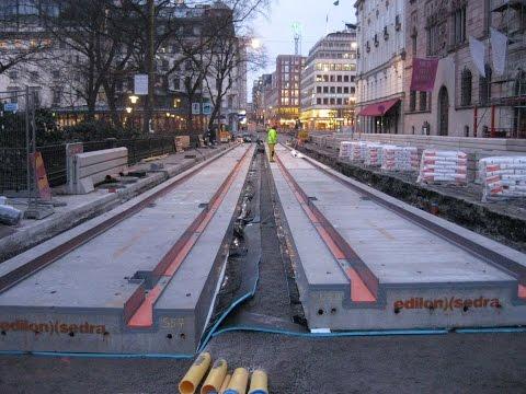 edilon)(sedra Corkelast USTS (Urban Slab Track System) Installation Stockholm, Sweden