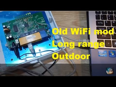 Make long range WiFi station with old WR740N and 16 dBi DIY antenna