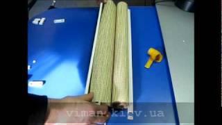 Сборка тканевых ролет Делюкс