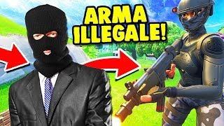 NEW ILLEGAL WEAPON, I THOUGHT I WAS A HACKER!! 👌 - Fortnite ITA
