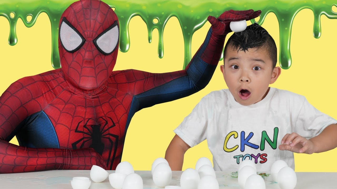 SLIME SMASH Fun Spiderman Vs Calvin CKN Toys