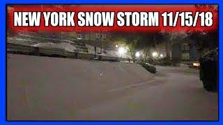 Snow Storm in New York 11/15/18 (PTD Vlogs Day 367) (Blizzard 2018)