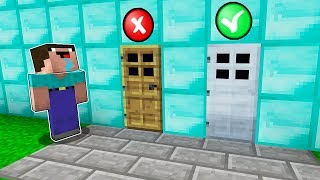 Minecraft NOOB vs PRO : WHICH DOOR WILL NOOB CHOOSE TO SURVIVE?! Challenge 100% trolling