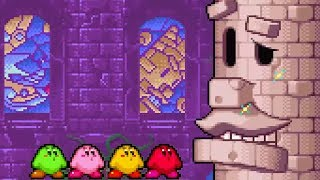 Kirby & The Amazing Mirror - Part 1: MOONLIGHT MANSION & KING GOLEM - No Damage 100% Walkthrough