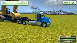 Let's Play - Farming Simulator 2013 EP1PT2 Hauling American Equipment