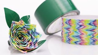 Simply Genius Duct Tape Craft Ideas - Flower