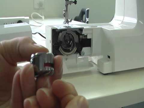 Threading The Bobbin YouTube Simple Bobbins For Elna Sewing Machine