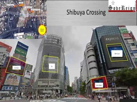 Tokyo Shibuya digital outdoor. Shibuya crossing media/advertising !
