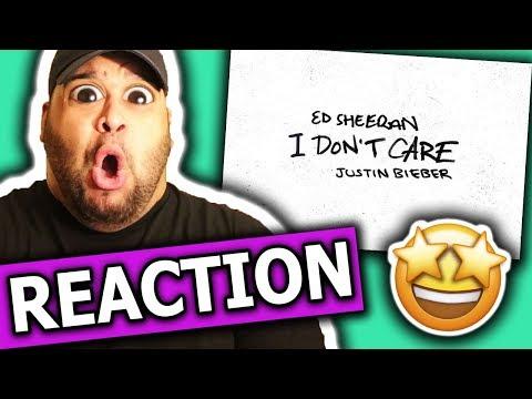 Ed Sheeran & Justin Bieber - I Don't Care [REACTION]
