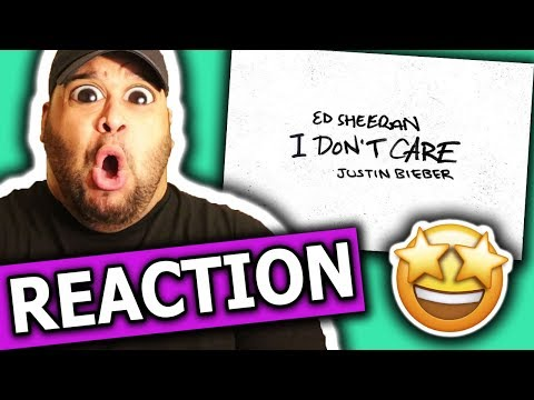 Ed Sheeran & Justin Bieber - I Don&39;t Care REACTION