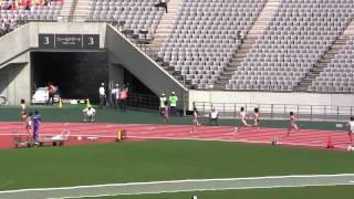陸上 少年女子A Jr.Women 400m 青山聖佳 53秒58 大会新 予選-3 東京国体 2013.10.6