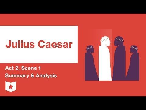 Julius Caesar by Shakespeare | Act 2, Scene 1 Summary & Analysis