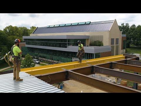 WCU Hoists Final Steel Beam On The Sciences & Engineering Center And The Commons