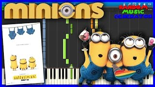 Banana Song - Minions Movie - Piano Tutorial [Synthesia♫]