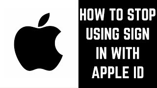 Gambar cover How to Stop Using Sign in With Apple ID