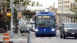 MTA New York City Bus: 2018 New Flyer XN60 Xcelsior CNG Articulated #1077 on the B35 Bus.