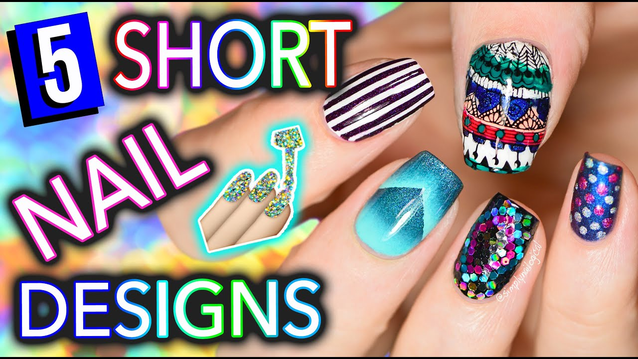 5 easy nail art designs for short nails holosexuals part 1 5 easy nail art designs for short nails holosexuals part 1 youtube prinsesfo Images