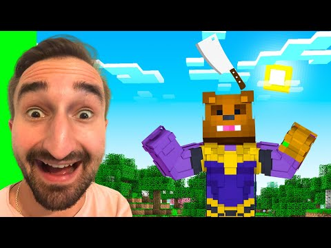 Making The INFINITY Cleaver To STOP THANOS In Insane Craft W/ SSundee