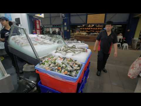Sydney Video Walk 4K - Sydney Fish Market Spring 2017