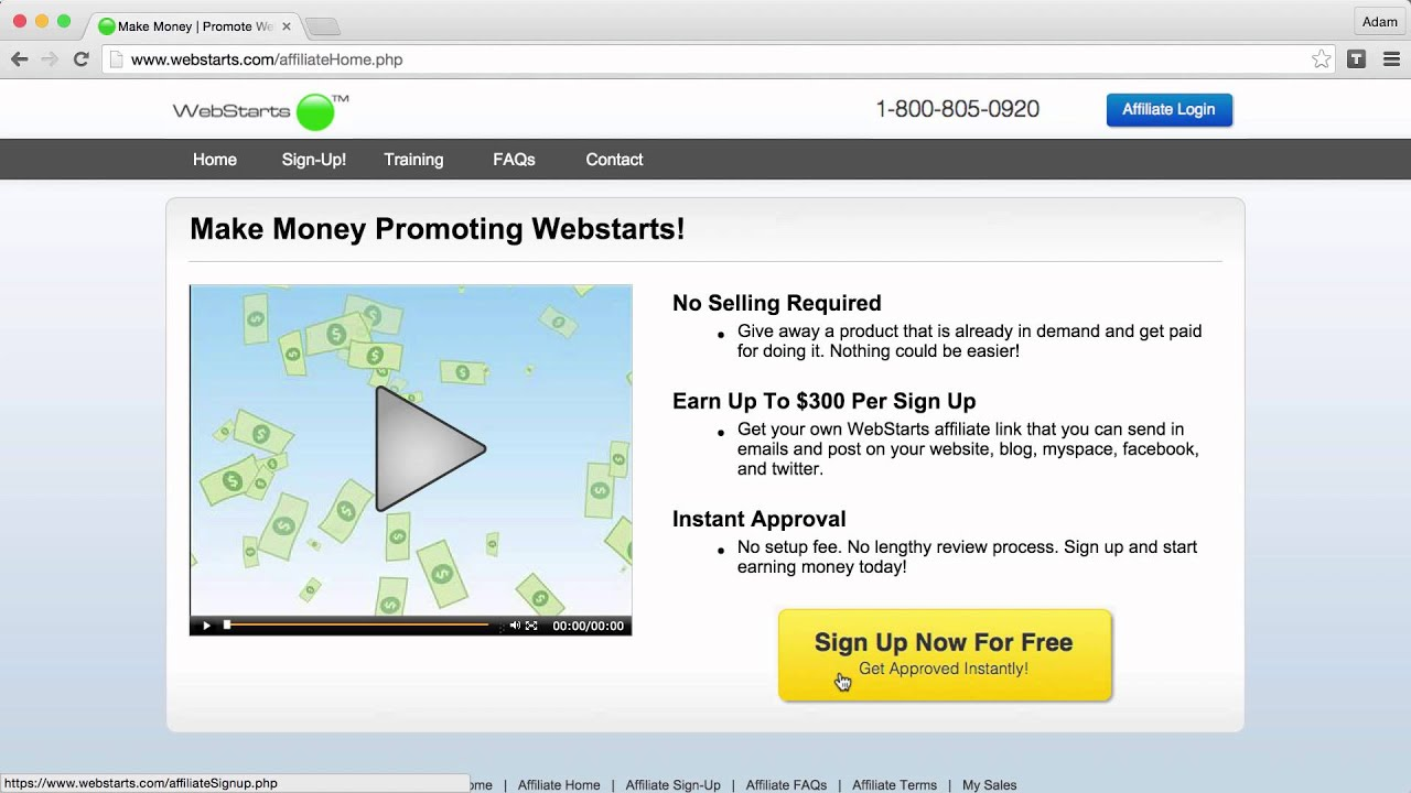 Webstarts com sign up
