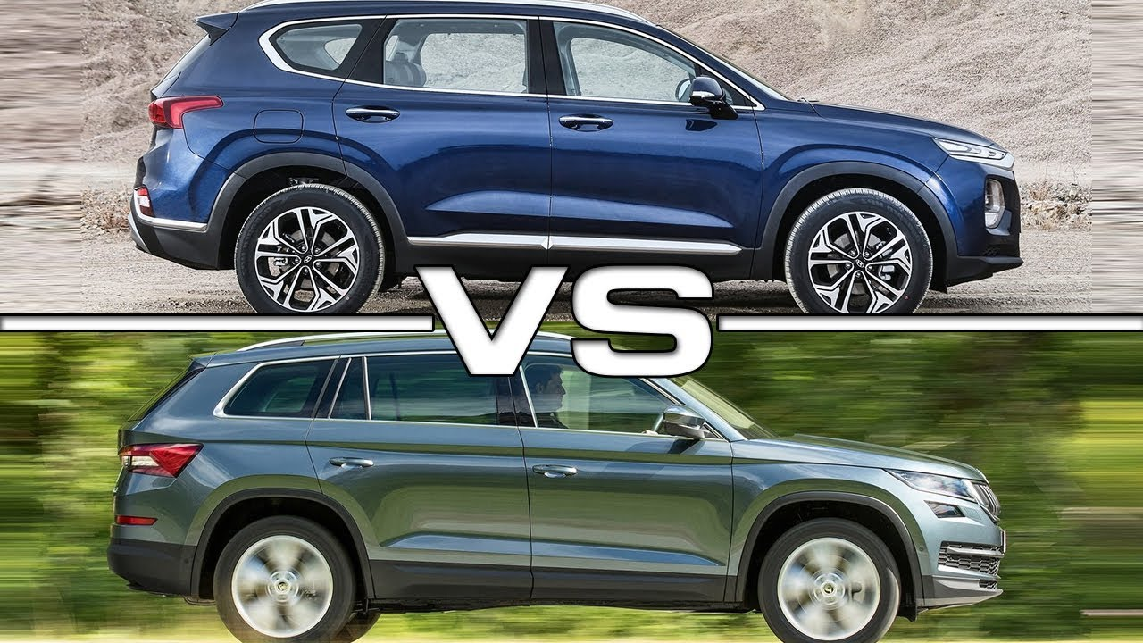 Santa Fe Honda Subaru >> 2019 Hyundai Santa Fe vs 2018 Skoda Kodiaq - YouTube