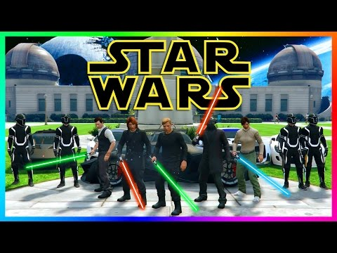 GTA ONLINE STAR WARS SPECIAL - THE FORCE AWAKENS CARS, LIGHTSABER DUELS & ROGUE ONE CHALLENGES!