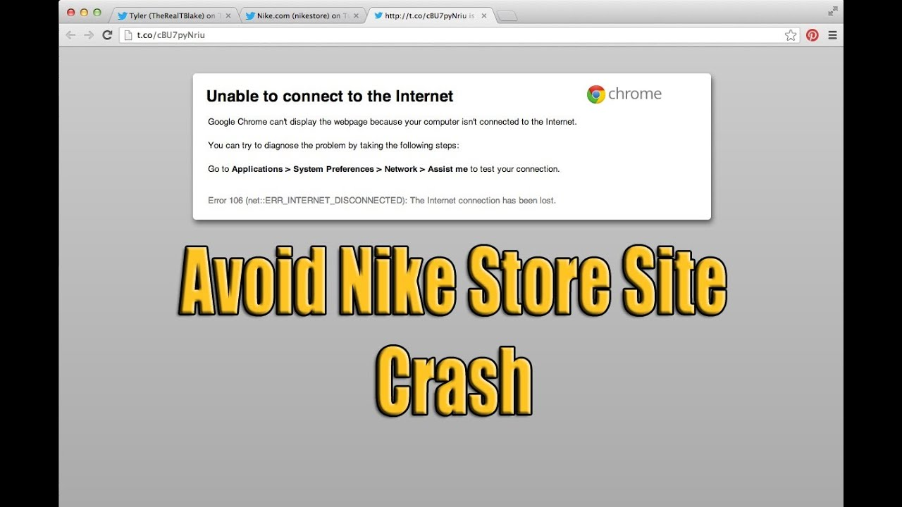 How to Avoid Nike Store Nike.com Twitter Link Lag and Crash