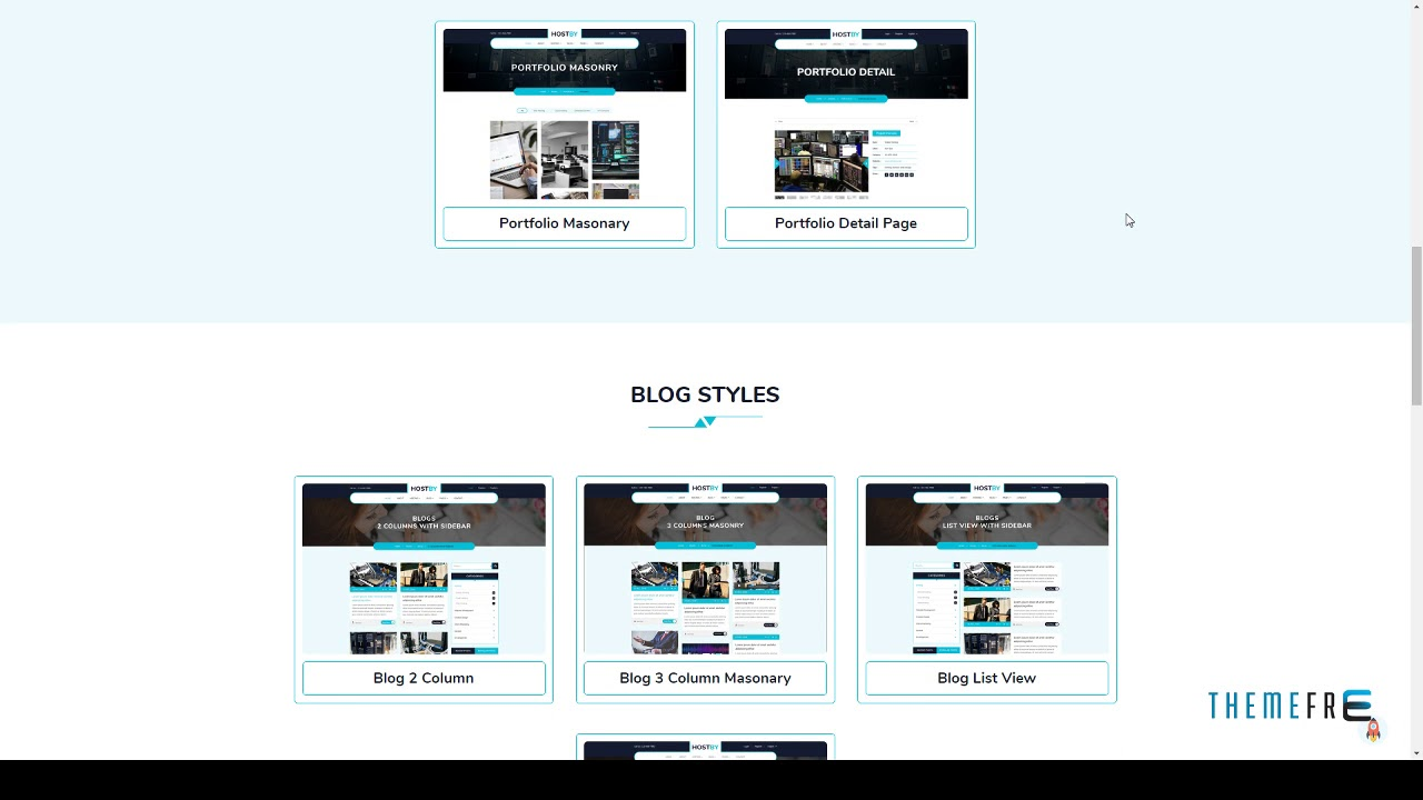 Hostby - Multipage Hosting Bootstrap4 HTML Template Kit Greyso - YouTube