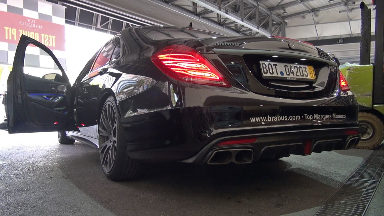 brabus 850 6.0 biturbo s63 amg - start, revs, acceleration! - youtube