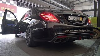 BRABUS 850 6.0 BiTurbo S63 AMG - Start, Revs, Acceleration!