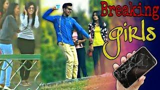 breaking girls phone prank   pranks in india   fuddu prank