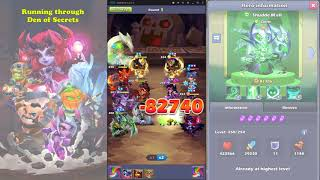 Taptap Heroes - running through new Den levels with my new 10*!