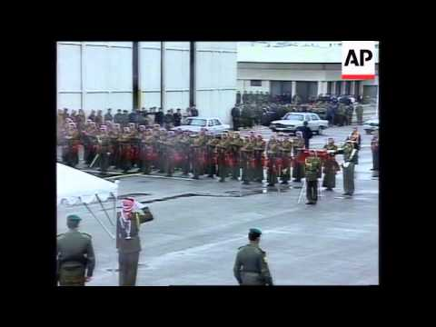 JORDAN: AMMAN: KING HUSSEIN ARRIVES HOME