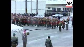 JORDAN: AMMAN: KING HUSSEIN ARRIVES HOME
