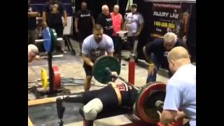 Anthony Burruto Benching 429 at the APF Single Ply Nationals, 4/11/14