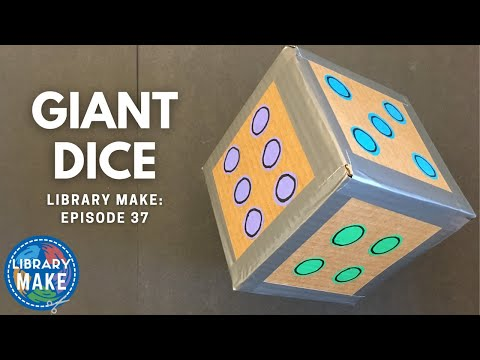 DIY Literacy:  Giant Dice (LIBRARY MAKE)