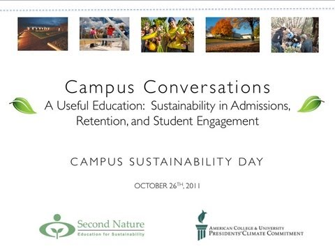 Campus Sustainability Day 2011 Webcast