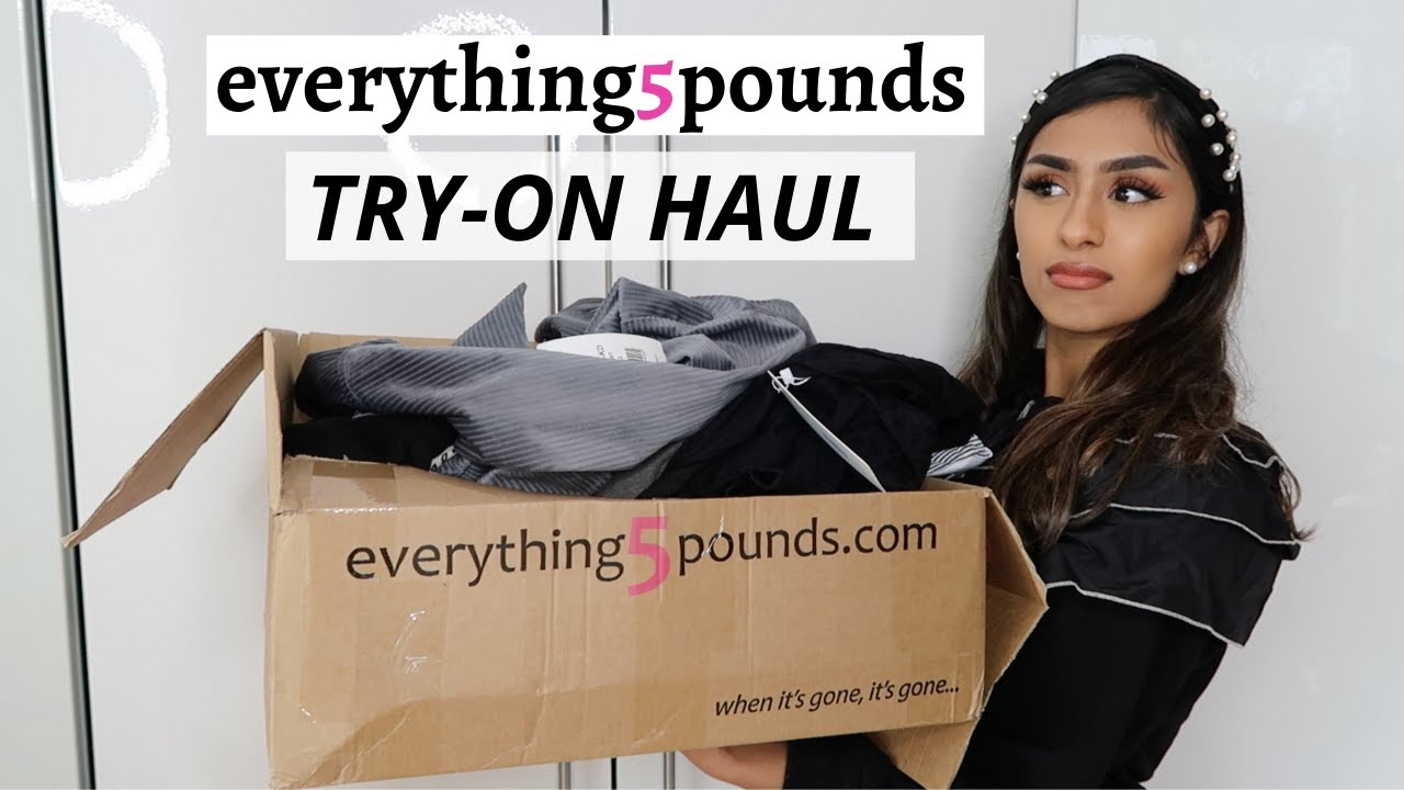 EVERYTHING5POUNDS Try-on Haul ... I was not expecting this | AD