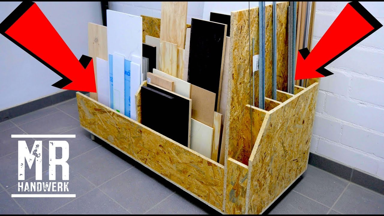 mrhandwerk baut einen plattenwagen aus osb f r die werkstatt youtube. Black Bedroom Furniture Sets. Home Design Ideas