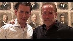 Sebastian Kurz bei Privat-Treff in Arnie-Villa