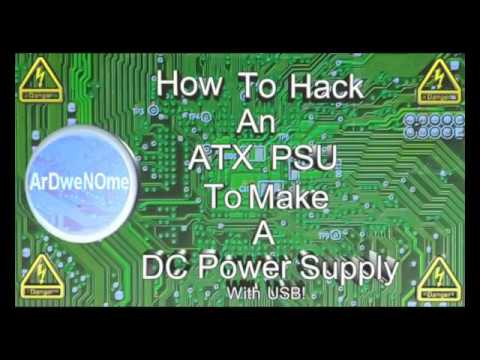 Hack An ATX Power Supply Into A DC Bench Power Supply! Full Step By Step Guide - ArDweNOme -