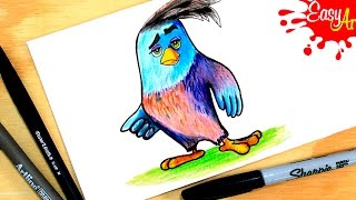 How to Draw Angry Birds  PAR 2( Angry Birds movie) / Como dibujar los angry birds