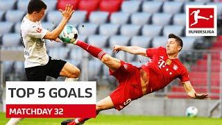 Top 5 Goals Lewandowski Sancho More