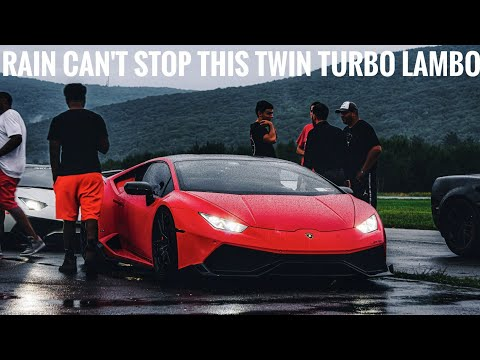1300 Horsepower Lamborghini Huracan Does 180 MPH In The Rain