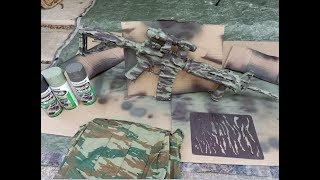 Painting my rifle with PA camouflage stencils
