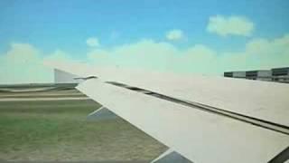 FS2004 JAL Boeing 777-300ER Tokyo to New York 1/2