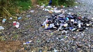 nisqually river fishing trash really peolpe this is sick