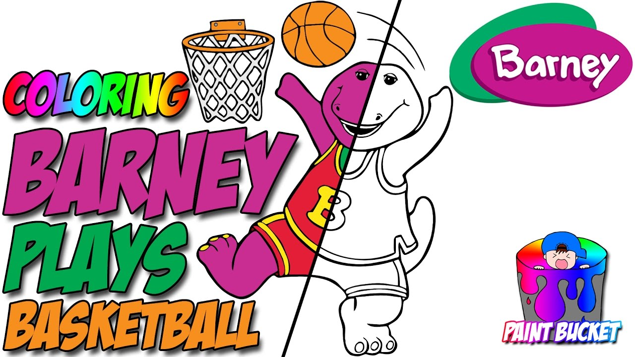 Barney Plays Coloring Pages Barney And Friends Coloring